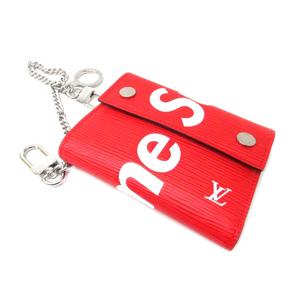 Louis Vuitton Louis × Supreme Epi Chain Wallet Double Fold M67755 Red / Adult Casual