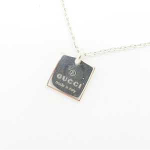 Gucci Gucci Necklace Ladies Men's Unisex Silver / Square Plate Ag 925 Adult Casual Simple 223869 J 8 400 8106