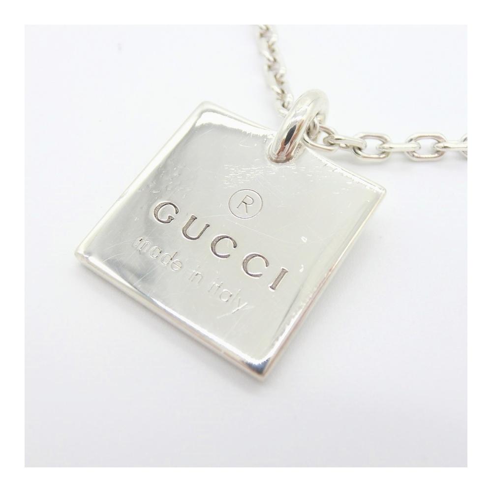 グッチ(Gucci) グッチ GUCCIネックレス レディース メンズ ユニセックス シルバー / スクエア プレート / Ag925 シルバー / 大人カジュアル シンプル Ag925 223869 J8400 8106