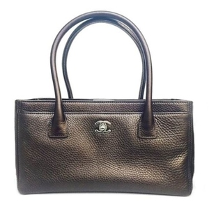 Chanel Timeless Classic Executive Tote Bag Bronze × Silver Hardware A67282 Elegant Casual Ladies Formal Brown Handbag Gold Logo With Adult Porch