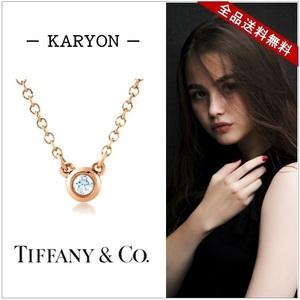 ティファニー(Tiffany) ダイヤモンド バイ ザ ヤード K18RG(ローズゴールド) ダイヤモンド ペンダント (ローズゴールド)