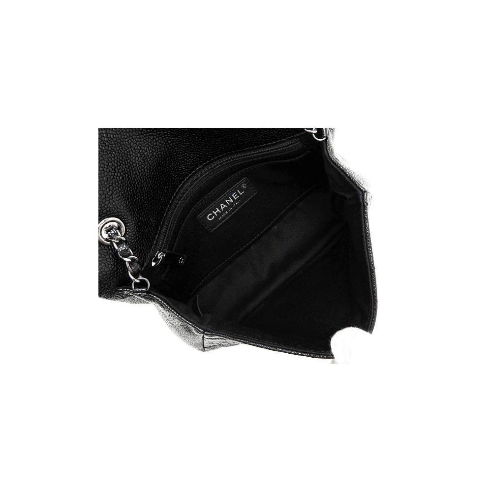シャネル(Chanel) シャネル バッグ ハンドバッグ チェーンショルダー レディース ブラック / ミニ チェーンバッグ キャビアスキン シルバー金具 A65412 / キルティング レザー ショルダーポーチ シンプル 【ギフト】【15】 【中古】【アウトレット】