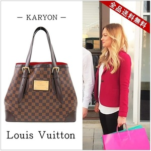 Louis Vuitton Louis Bag Habas Damier Hamstead Mm Tote N 51204 Elegant Casual / Women's Out Of Print Large Capacity Commuting