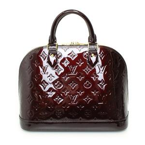 Louis Vuitton Louis Vernis Alma Pm Handbag Amarante M91611 Ladies Casual Key Open Pocket Simple Unusual Color Cute Cool Handy Motif