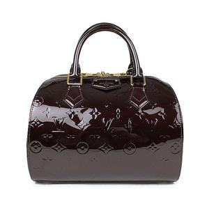 Louis Vuitton Louis Handbag Women's Purple / Verni Montana M90057 Amarante Enamel Patent Adult Casual Simple Unusual Color