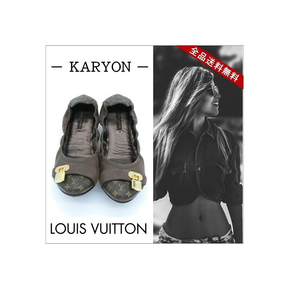 ルイ・ヴィトン(Louis Vuitton) モノグラム レディース フラットシューズ (モノグラム,ブラウン)