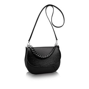 Louis Vuitton Louis Shoulder Bag Women's Black / Epis · Leather Luna 2 Way M42674 Adult Casual Simple Elegant