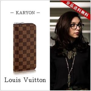 Louis Vuitton Damier N61207 Unisex Wallet Ebene