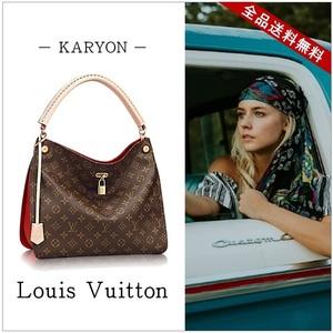 Louis Vuitton Louis Bag One Shoulder Ladies' Brown / Monogram Gaia Sleeys M41620 Tea Simple Casual Beautiful Kaji Ceremony Elegant Classic Large Capacity