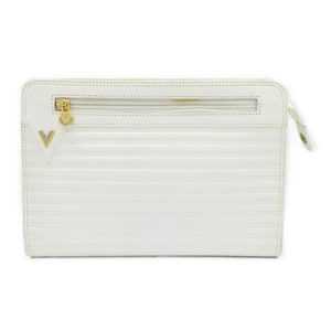 Mario Valentino Bag Clutch Women / Second White Vintage Men's Like