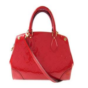 Louis Vuitton Louis Handbag 2way Bag Ladies Red / Monogram Vernis Santa Monica Shoulder M50511 Enamel Patent Adult Casual