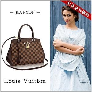 Louis Vuitton Louis Bag 2 Way Handbag Brown / Damier Rivoli Bb Shoulder N 41152 Elegant Casual Women's
