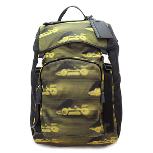 Prada Rucksack Unisex Car Motif Nylon × Canvas Calf Tessuto St.cars 2vz 066 Adult Casual