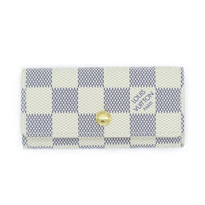 Louis Vuitton Louis Accessory Key Case Unisex / Damier Azur Miretikule 4 ​​Sequential N60020 White × Gold Hardware