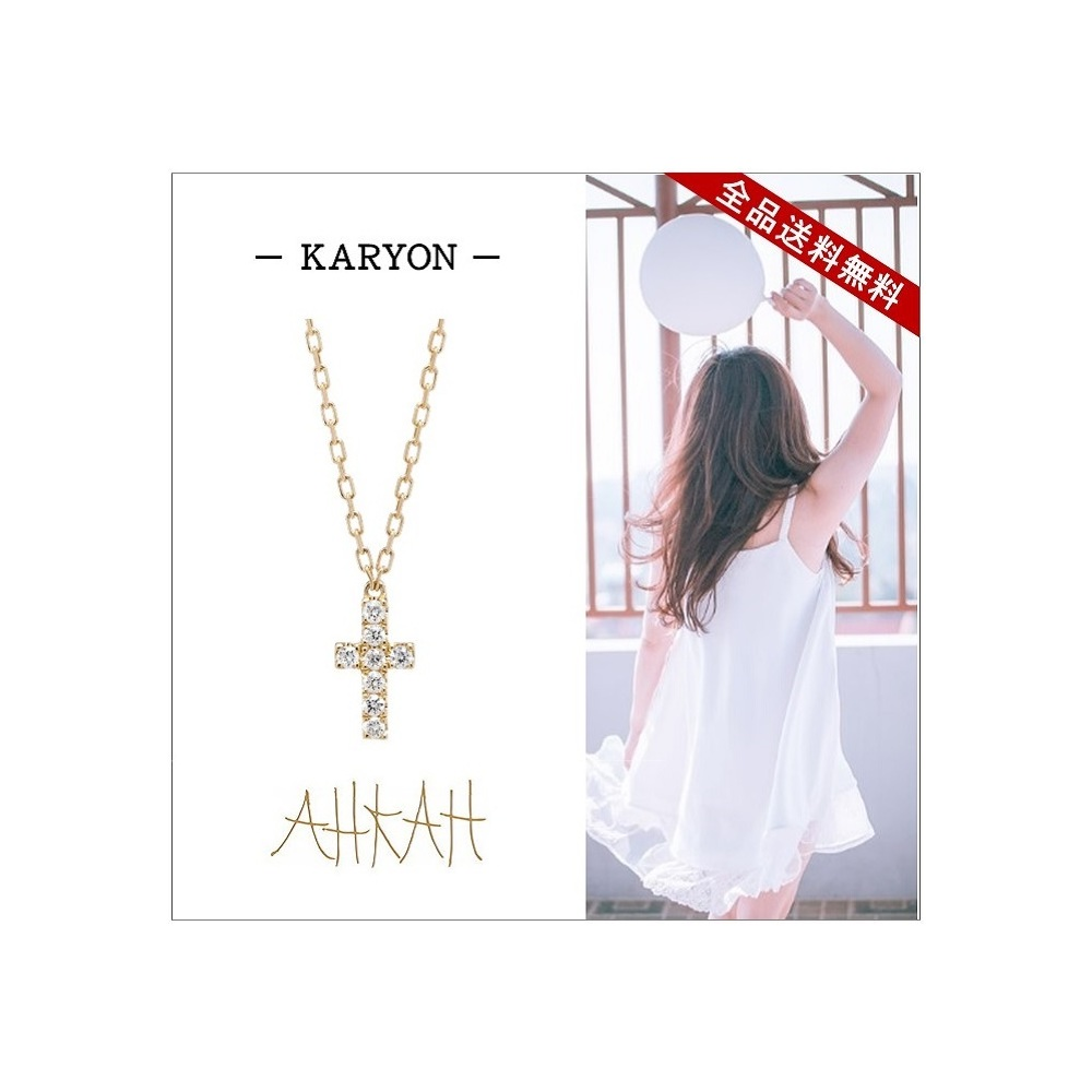 AHKAH Yellow Gold (18K) Diamond Women's Pendant Necklace Carat/0.04 (Yellow Gold) K18YG