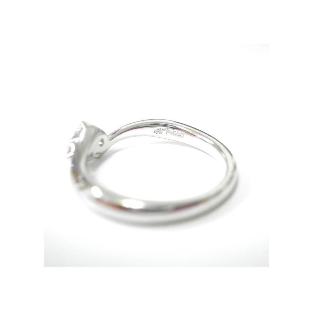 4°C【ヨンドシー】ジュエリー エンゲージリング 婚約指輪 2Pダイヤモンド レディース / Pt950 リング 3.7g プラチナ / シンプル アクセサリー ブライダル ウェディング 婚約記念日 ギフト プレゼント【中古】