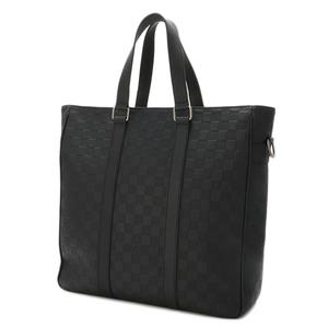 Louis Vuitton Louis Bag Shoulder Business Men's Unisex / Damier Anfini Neotadao 2 Way Onyx Black N41227 Executive Strap Removable