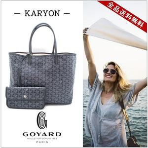 Goyard Goyar Bag Tote Ladies Gray / Saint Louis Pm Pvc Calf Casual Adult Printable Present