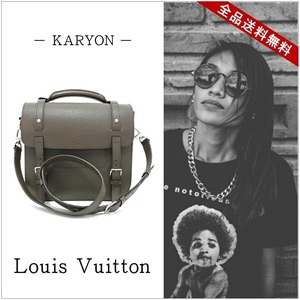 Louis Vuitton Louis Bag Reporter Shoulder Brown / 2 Way Pigskin Leather Genuine Taupe M94417 2013 Fall Winter Women's