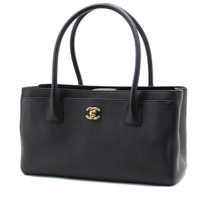 Chanel Bag Handbag Women's Black / Executive Tote Caviar Skin Gold Hardware A67282 Simple Formal Elegant