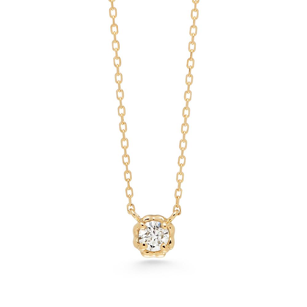 アーカー(AHKAH) ティア K18イエローゴールド(K18YG) ダイヤモンド レディース カジュアル ネックレス カラット/0.05 (イエローゴールド(YG)) AB1107010100
