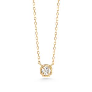 アーカー(AHKAH) K18イエローゴールド(K18YG) ダイヤモンド レディース カジュアル ネックレス カラット/0.05 (イエローゴールド(YG)) K18YG