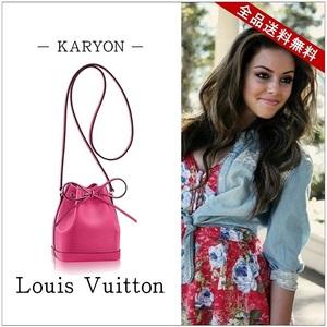 Louis Vuitton Louis Bag Women's Pink / Drawstring Epi Nano Noe Shoulder Pochette Leather Pivowanne Mini Shocking M42573
