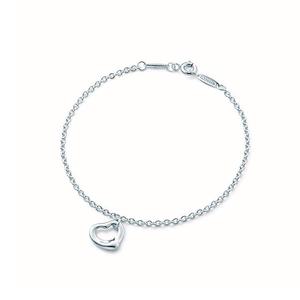 Tiffany Open Heart Bracelet Ag 925 Ladies Silver