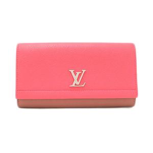 Louis Vuitton Louis Porto Foyu Rockmy 2 Folding Wallet Ladies' Blossom Pink × Beige / Calf Leather Adult Casual M62364