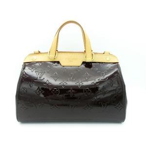 Louis Vuitton Louis Handbag Ladies Purple / Enamel Patent Adult Casual Simple Monogram Verni Burea Pm Amarante M91622