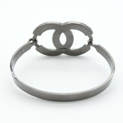 シャネル(Chanel) ココ 合金 スワロフスキー,ラインストーン バングル ブラック ブラックメッキ 04A
