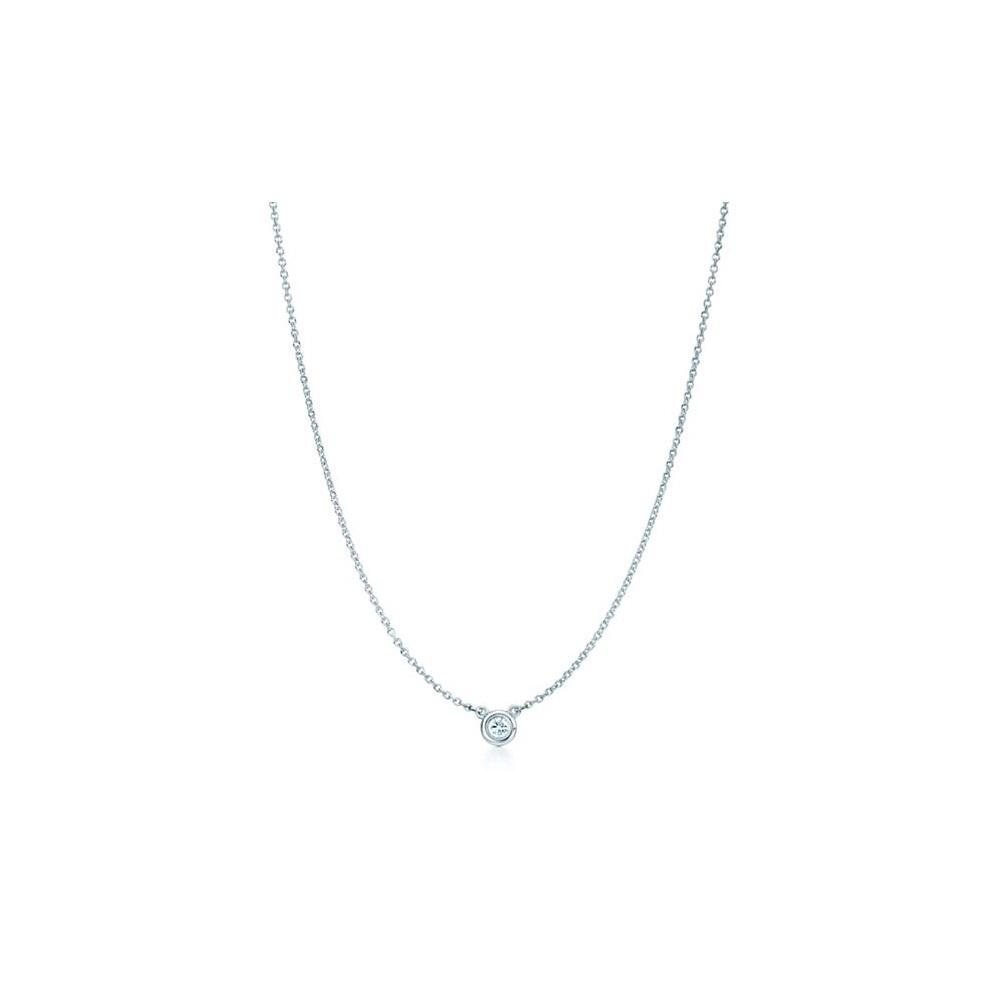 ティファニー(Tiffany) ダイヤモンド バイ ザ ヤード Pt950(プラチナ) ダイヤモンド レディース カジュアル ネックレス カラット/0.08 (プラチナ)