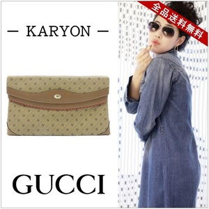 Gucci Gucci Bag Clutch Women's Men's Unisex Brown / Old 32-02-500