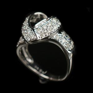 ノーブランド ホワイトゴールド(WG) ファッション ダイヤモンド リング カラット/0.5 ホワイトゴールド(WG)