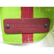 ボッテガ・ヴェネタ(Bottega Veneta) グリーン 234566VQ2013665 レディース キャンバス トートバッグ ホワイト,レッド,グリーン