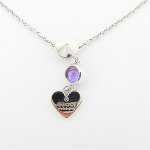 Gucci Gucci Necklace Ladies Silver / 2p Heart Motif With Amethyst Ag 925 325871 J21 E 0 8164