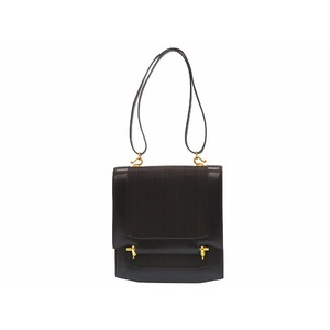 Hermes Camargue Women's Box Calf Leather Shoulder Bag Black,Gold,Brown