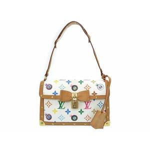 Louis Vuitton Monogram M92055 Women's Handbag Blanc,Gold