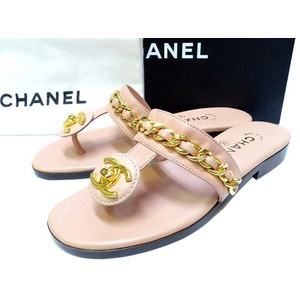 Chanel Matelasse Sandals (Gold,Baby Pink)