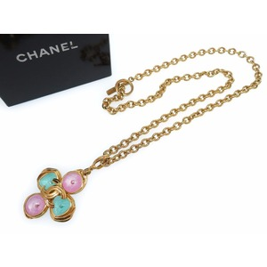 Chanel Gold Color Stone Women's Necklace (Gold)