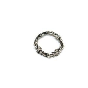 Chrome Hearts Silver Diamond Ring Silver