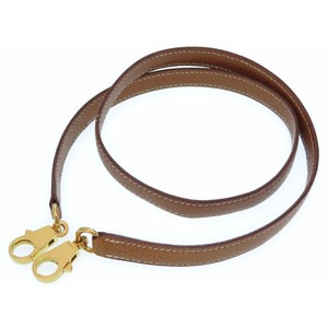 Hermes Kelly Shoulder Strap Pigusukin Brown 0186