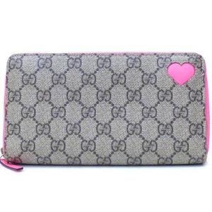 Gucci GG Supreme 323224 GG Supreme Wallet Beige,Pink GG,Pink Beige