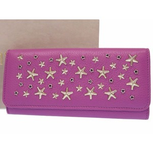 Jimmy Choo Women's Leather,Rhinestone Wallet Purple