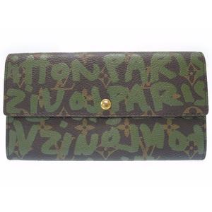 Louis Vuitton Monogram Graffiti M92188 Unisex Wallet Monogram,Brown