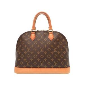 Louis Vuitton M40878 Women's Handbag Brown,Monogram