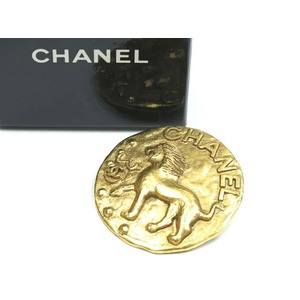 Chanel Metal Brooch Gold