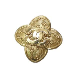Chanel Coco Metal Brooch Gold