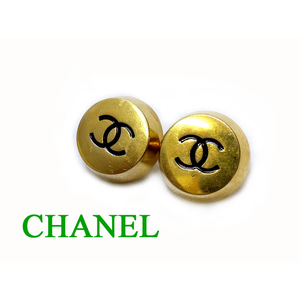 Chanel Metal Earrings Gold