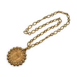 Chanel Coco Mark Necklace Vintage Gold Chain Belt 0354 Chanel